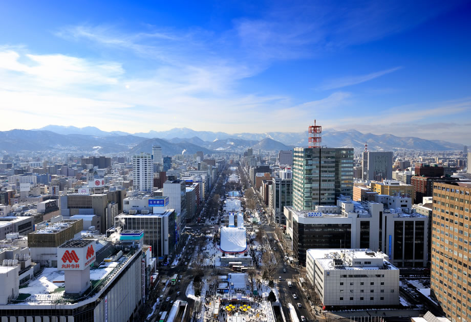 Area for a dramatic bird's eye view of Sapporo.